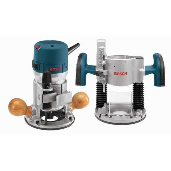 Bosch 1617EVSPK RT 2.25 HP Combination Plunge Fixed Base Router Pack