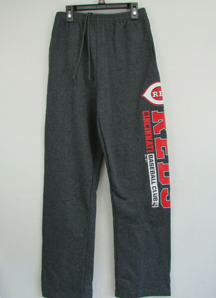 MLB Cincinnati Reds Mens Majestic SPELL OUT Sweat Pants Size Small NWOT