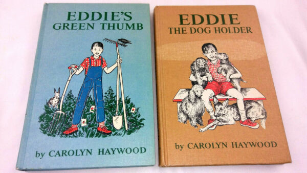 Eddie#x27;s Green Thumb amp; The Dog Holder by Carolyn Haywood Hardcover 1960#x27;s $20.00