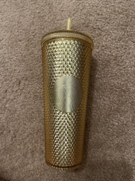 *Please Read* Starbucks China 2020 Limited Edition Studded Tumbler Cup Gold