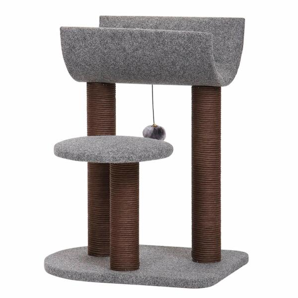 Catry Cat Tree for Cat Activity with Paper Rope Scratching Post