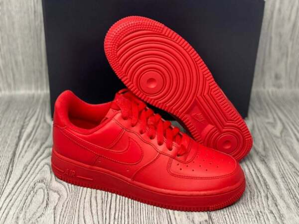 Nike Air Force 1 Low Triple Red Brand New All Sizes Free Shipping