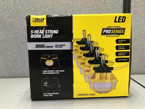 Feit Electric 50ft LED 5 head String Work Lights $115.99