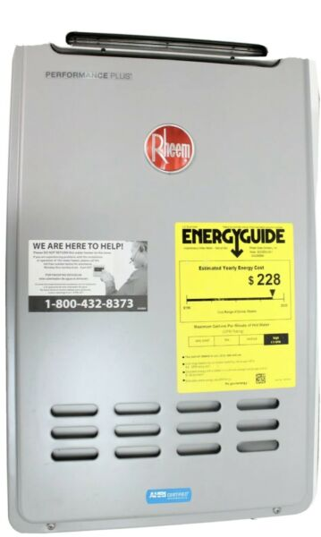 New Rheem ECO200XLN3 1 Outdoor Natural Gas Tankless Water Heater 9.5 OPEN BOX $650.00