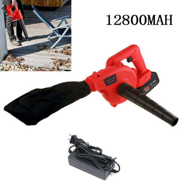Electric Handheld Cordless Leaf Blower Set Garden Yard Lawn Sweeper Removable