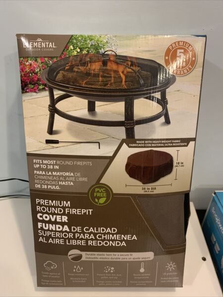 Firepit Cover ROUND Elemental Outdoor Covers Premium covers up to 38quot; $15.00