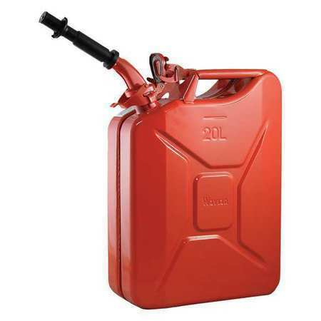 Wavian 2238C 5.28 Gal 20 L Red Cold Rolled Steel Gas Can