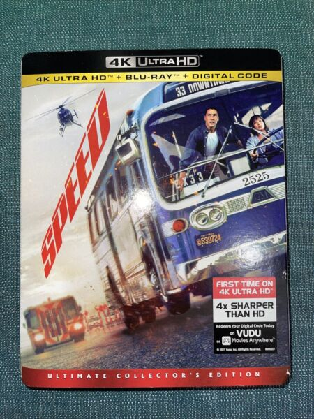 SPEED 4K Ultra HD Blu Ray Digital Code with Slipcover NEW SEALED