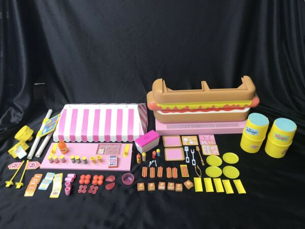 1987 Barbie California Dream Hot Dog Stand 4463 The Most Complete Set W O Box $34.99