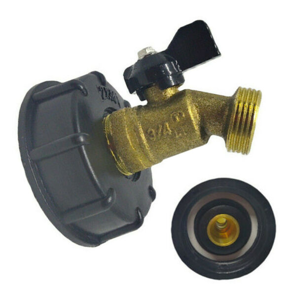 275 330 Gallon IBC Tote Water Tank Adapter 2quot; Brass Hose Faucet Valve Tools US $14.99