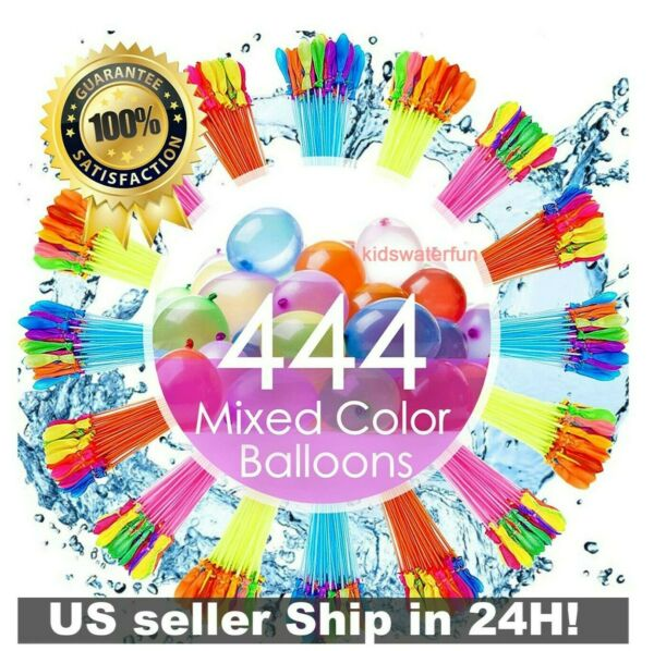 444 Pcs Bunch O Instant Water Balloons Rapid Fill Self Sealing Already Tied $13.97