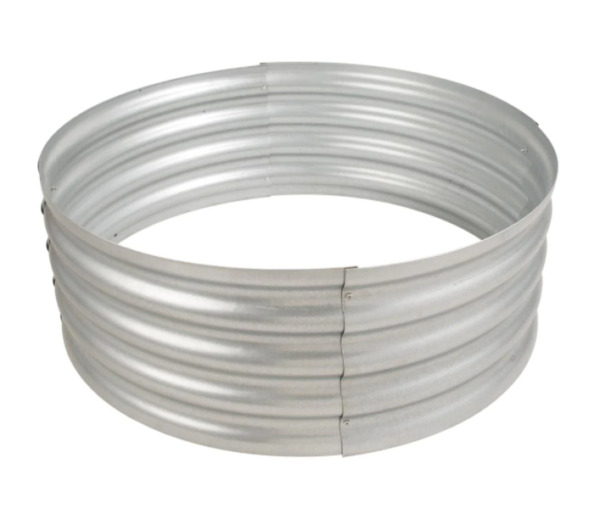 36 in. Fire Pit Outdoor Galvanized Steel Camping Backyard Wood Fire Ring $69.21