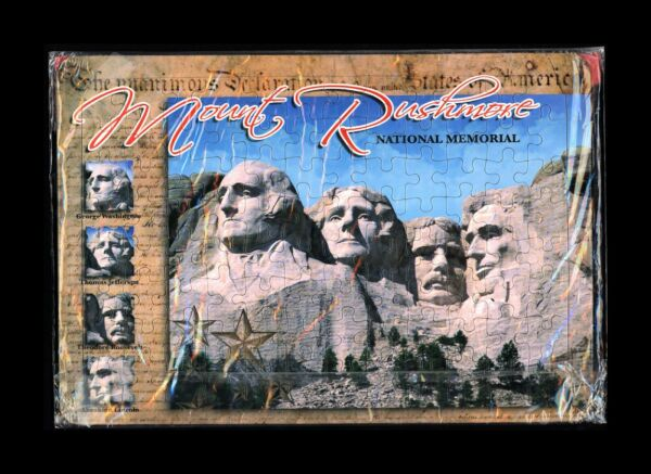 Mount Rushmore National Memorial Park Tray Puzzle 96pc USA Presidents New SEALED $8.95
