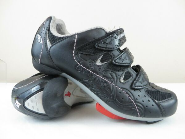 Women's size 4 or 36 Euro Specialized Mountain Bike Shoes Cleats Black $24.98