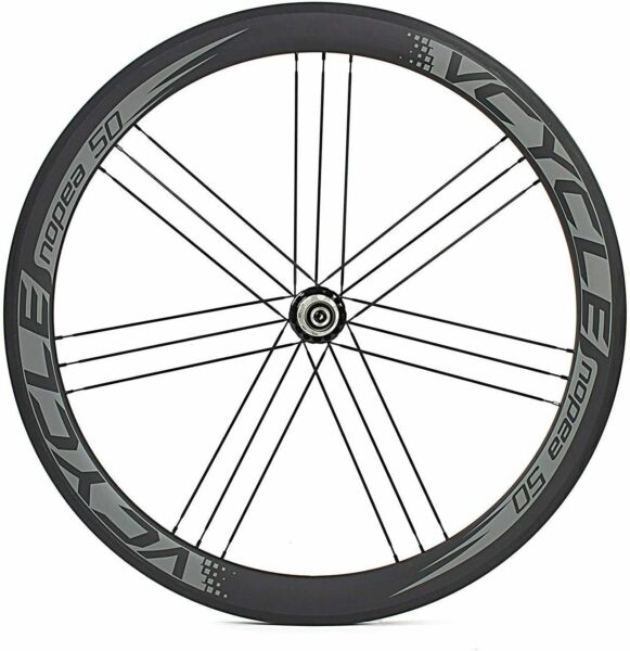 VCYCLE 700C Carbon Road Bike Wheelset 50mm Clincher 8 9 10 11 Speed 1600G $398.00