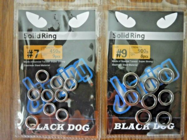 $1 Sale Black Dog Large Figure 8 And Solid Rings Size #7 #9 Owner Rings $1.00