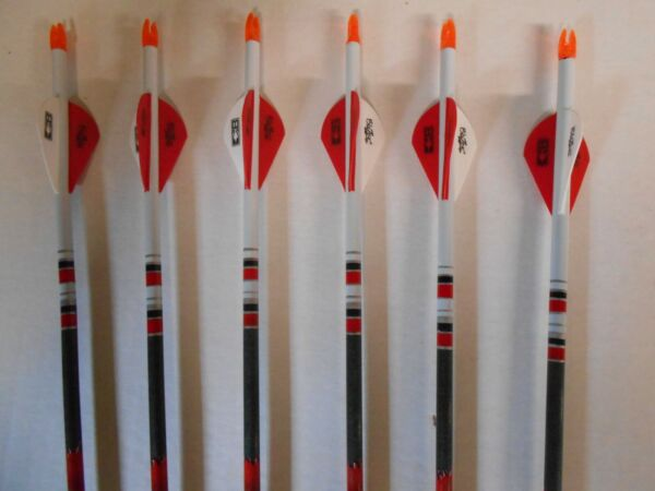 6 Easton Bloodline 400 6mm Carbon Hunting Arrows Dip Crested CUT TO LENGTH $59.99