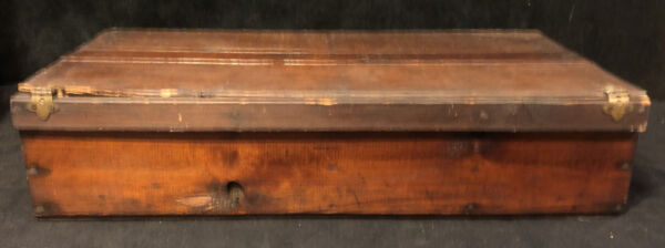 """Antique Hand Made Wood Crate Box Shelf Tool Box Fruit Crates Chest 26"""" Long higj"""