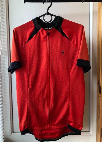 Specialized Bike Bicycle Athletic Full Zip Jersey Shirt L $7.50
