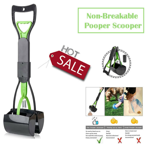 Pet Pooper Scooper For Dogs Cats With Long Handle Foldable Dog Poop Waste Pick $17.99