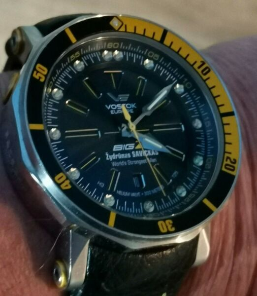 Vostok Europe Big Z Automatic Large Mens Watch quot;Worlds Strongest Manquot;. LOVELY GBP 399.00