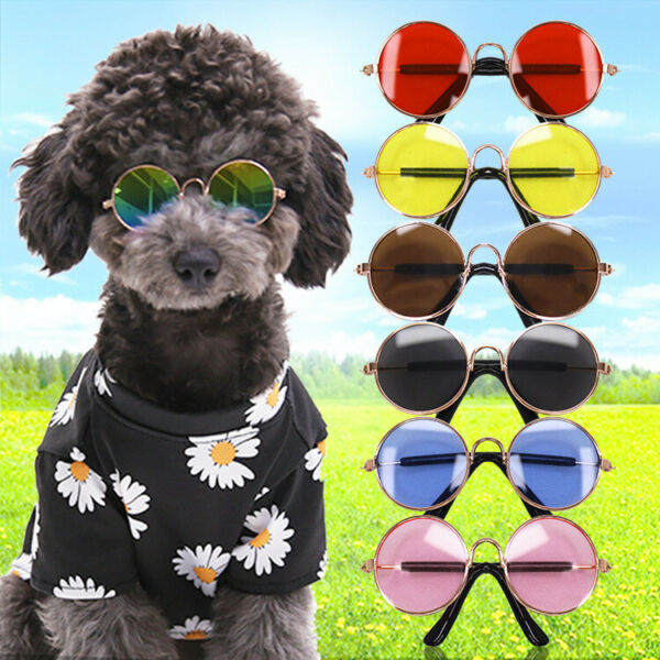 Dogs Cats Pets Glasses For Pet Small Dog Eye Wear Puppy Photos Props Sunglasses $5.99