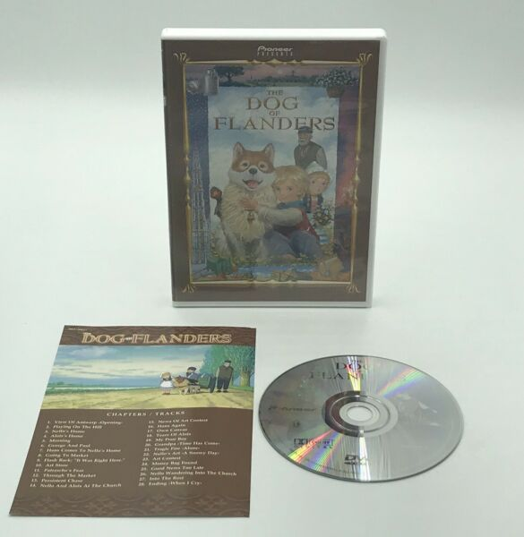 The Dog of Flanders DVD 2000 Pioneer Animated; Complete *No Scratches on Disc $95.00