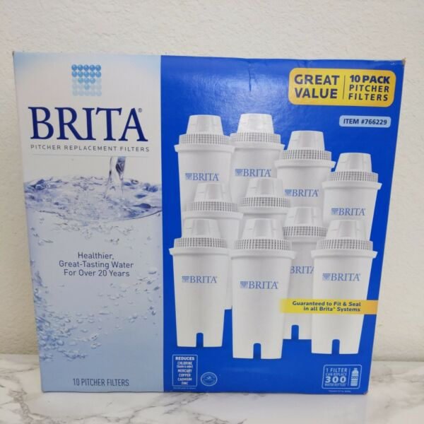 New Sealed Brita Replacement Water Pitcher Purification Filters 10 Pack
