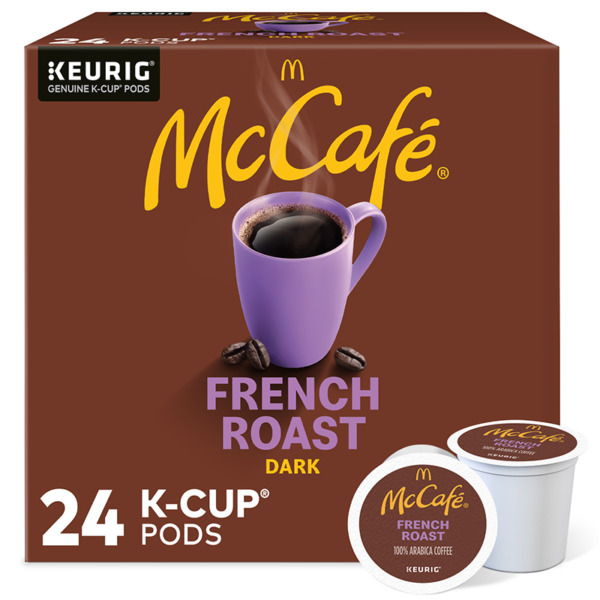 McCafe French Roast K Cup Coffee Pods Dark Roast 24 Count For Keurig Brewers