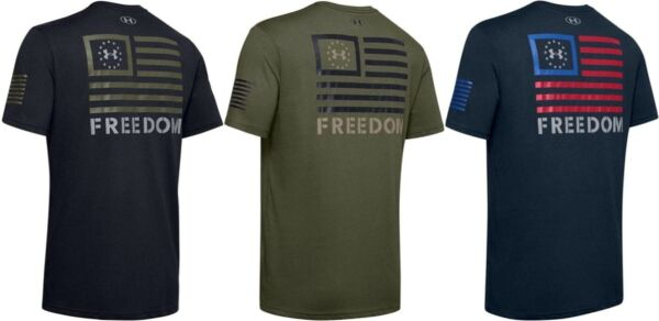Under Armour Men#x27;s UA Freedom Banner Short Sleeve Athletic T Shirt 1352147
