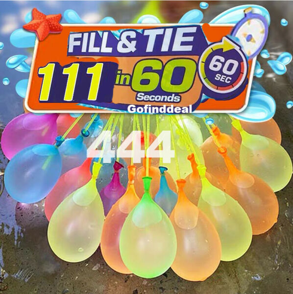444 Pcs Bunch O Instant Water Balloons Rapid Fill Self Sealing Already Tied $13.65