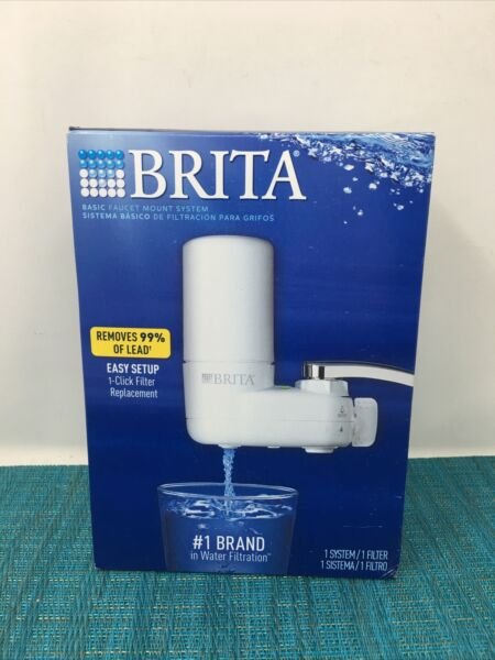New Brita On Tap Faucet Mount Water Filtration System Filters BPA Free White
