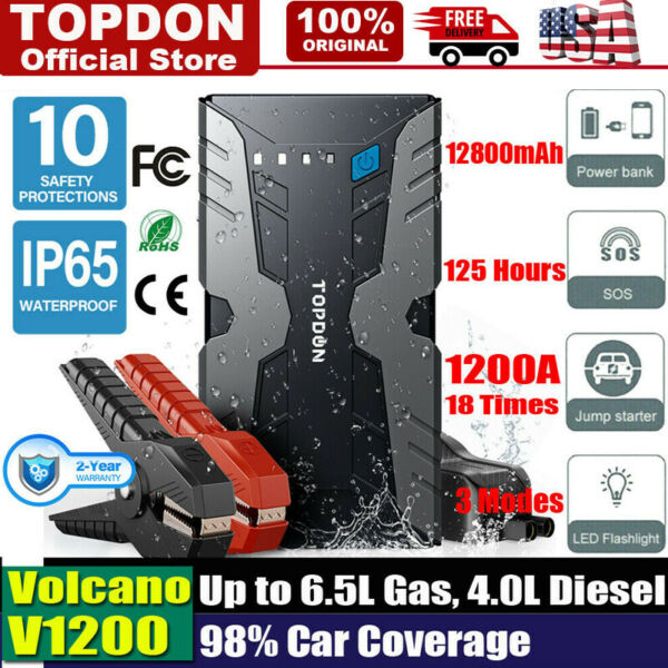 Jump Starter Portable Car Battery Pack 12V Auto Battery Charger Booster Jumper $45.19
