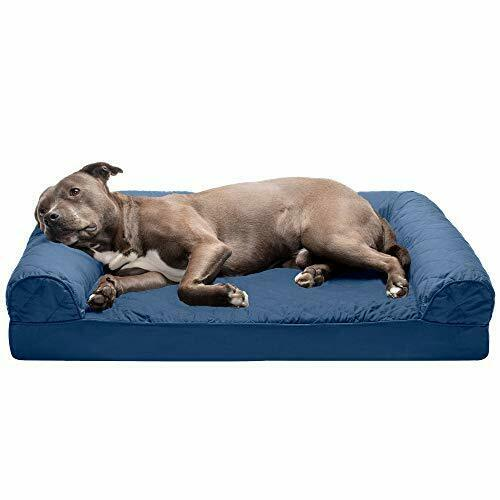 Pet Dog Bed Dog Beds Large Quilted Navy Sofa Bed Egg Crate Orthopedic Foam $44.67