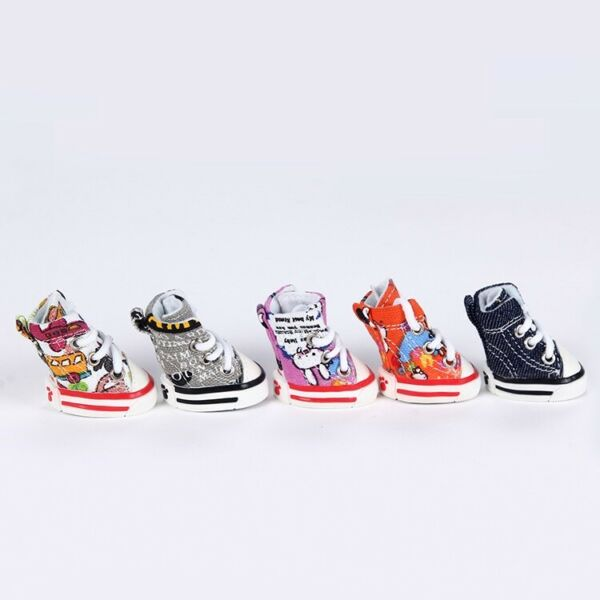 4pcs Pet Dog Boots Puppy Cute New Sports Anti slip Shoes Sneakers For Small Dogs $10.99