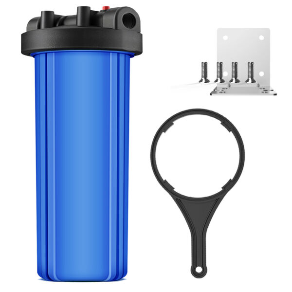 20 x 4.5 inch Whole House Big Blue Water Filter Housing 1 inch Outlet Inlet new