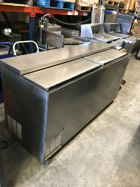 Perlick BC72 SS Bottle Cooler 72quot;Wide Flat Top