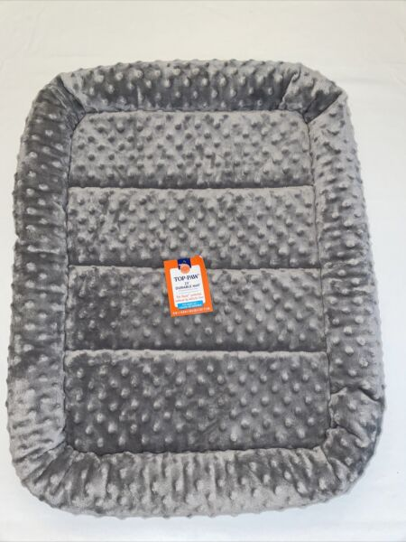 """Top Paw 23"""" Durable Dog et Crate Mat Bed Gray $25.99"""