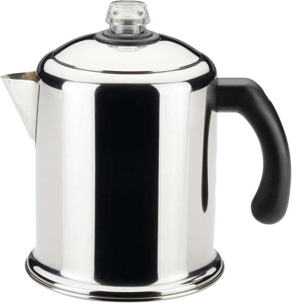 8 Cup Heavy Duty Stove Top Percolator Yosemite Coffee Pot Maker Stainless Steel