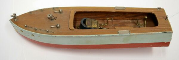 For RESTORE Made in Japan Electric IMP I.M.P Inboard 14quot; Wood Motor Boat Toy Vtg $119.99