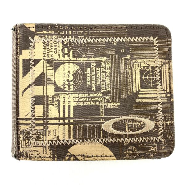 Oakley Mens Bifold Embroidered Canvas Wallet $24.99