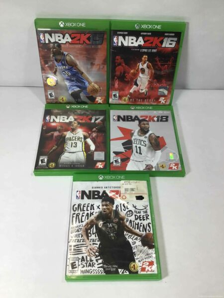 Pre Owned Microsoft Xbox One Bundle of 5 Games: NBA 2K Variety