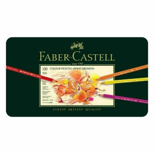 Faber Castell Polychromos Artists#x27; Color Pencils Tin of 120 Colors