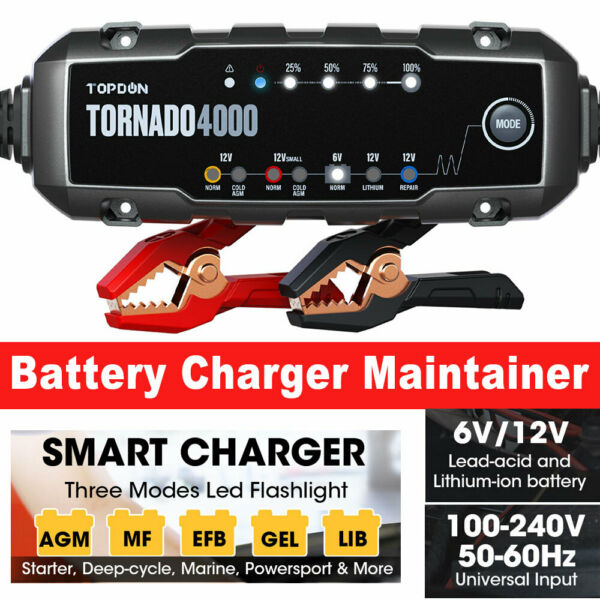 Smart Car Battery Charger Maintainer for 6 12V AGM GEL WET Battery Vehicles $59.99
