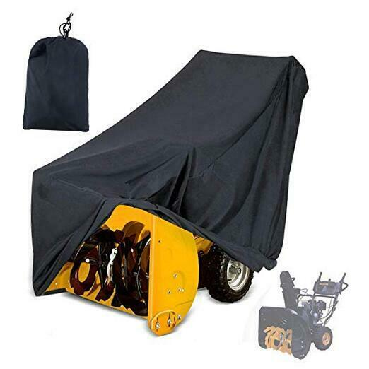 Snow Thrower Cover Two Stage Snow Blowers Cover Waterproof Heavy Duty Outdoor