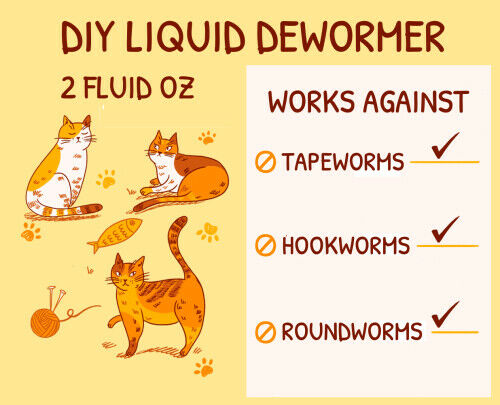 Do It Yourself Dewormer Aid Suitable for cats $19.99