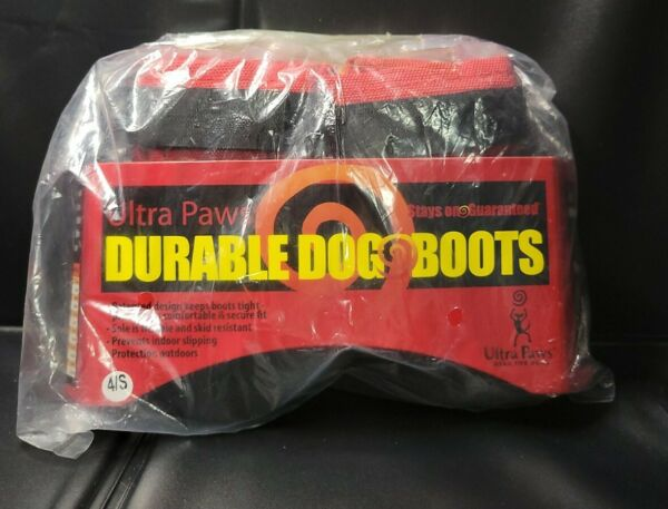 Ultra Paws Durable Dog Boots NEW IN PACKAGE 4 S S5RCT T $11.87