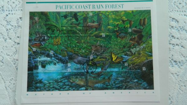 USPS 2000 PACIFIC COAST RAIN FOREST FIRST DAY OF ISSUE SEATTLE WASHINGTON STAMP