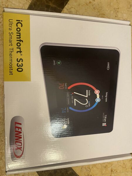 Lennox 19V30 iComfort S30 Ultra Smart Programmable Thermostat 7quot; HD Display NEW $609.99