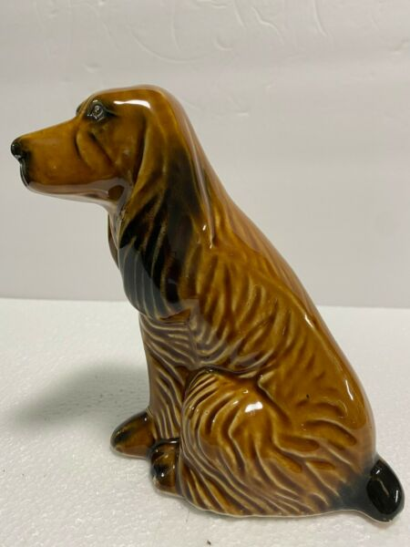 Collectibles Figurines Ceramic Spaniel Dog  Made in Brazil 7quot;Tall $12.99